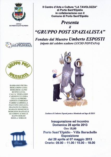 Locandina Gruppo Post Spazialista