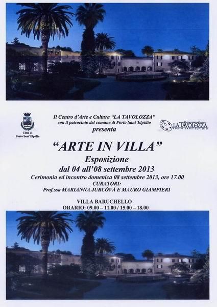 Locandina Arte in Villa.